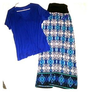 Apt. 9 Skirt and Top size Large L set outfit nwt.